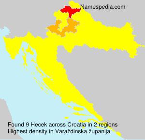 Surname Hecek in Croatia