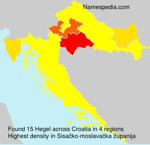 Surname Hegel in Croatia