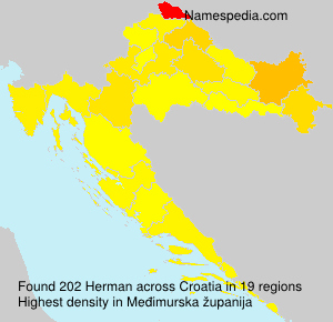 Surname Herman in Croatia