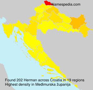 Surname Herman in Croatia