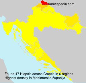 Surname Hlapcic in Croatia