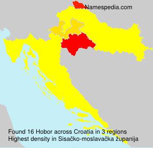 Surname Hobor in Croatia