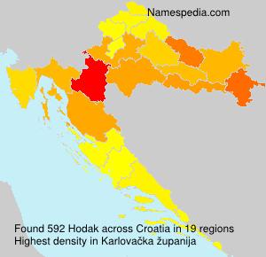 Familiennamen Hodak - Croatia