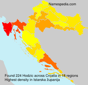 Surname Hodzic in Croatia