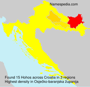 Surname Hohos in Croatia