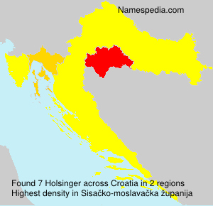 Surname Holsinger in Croatia