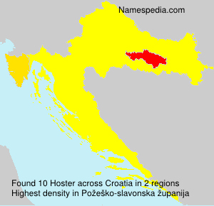 Surname Hoster in Croatia