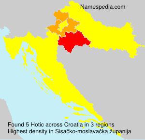 Surname Hotic in Croatia