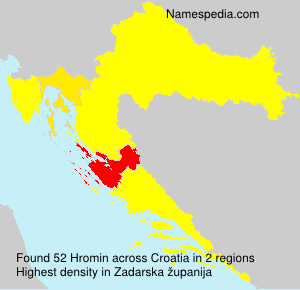 Surname Hromin in Croatia