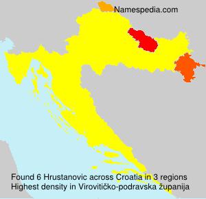 Surname Hrustanovic in Croatia