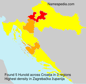 Surname Hunold in Croatia