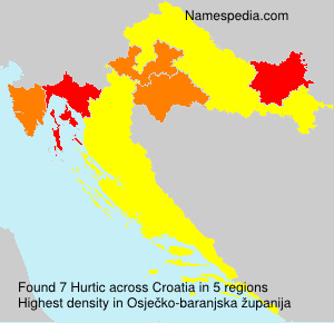 Surname Hurtic in Croatia