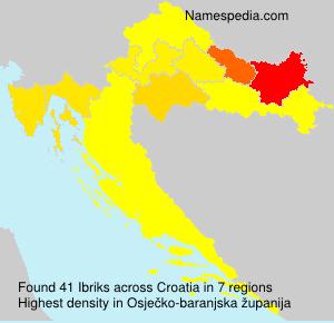 Familiennamen Ibriks - Croatia