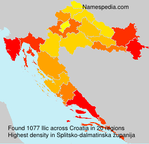 Surname Ilic in Croatia