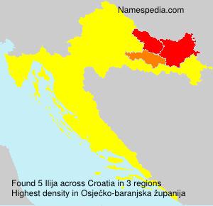 Surname Ilija in Croatia