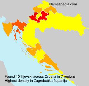 Surname Ilijevski in Croatia