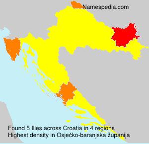 Familiennamen Illes - Croatia