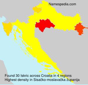 Familiennamen Iskric - Croatia