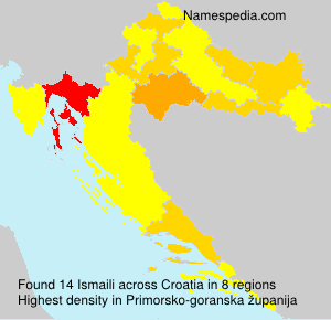 Surname Ismaili in Croatia