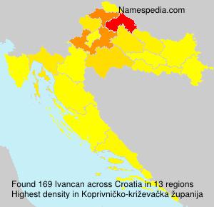 Surname Ivancan in Croatia