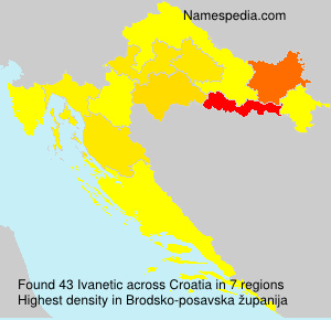 Surname Ivanetic in Croatia