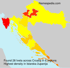 Surname Iveta in Croatia