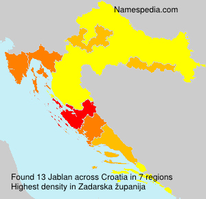 Surname Jablan in Croatia