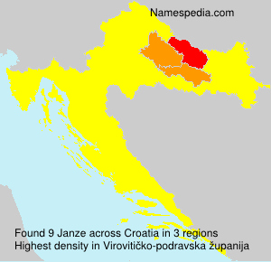 Surname Janze in Croatia