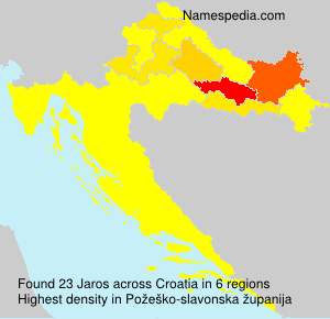 Surname Jaros in Croatia