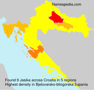 Surname Jasika in Croatia