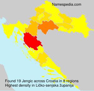 Surname Jengic in Croatia