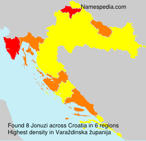 Surname Jonuzi in Croatia