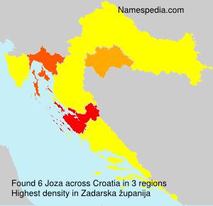 Surname Joza in Croatia