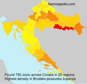Surname Jozic in Croatia