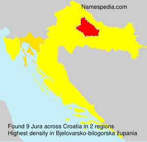 Surname Jura in Croatia