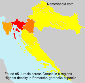 Surname Jurasic in Croatia
