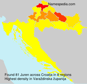 Surname Juren in Croatia