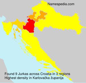 Surname Jurkas in Croatia