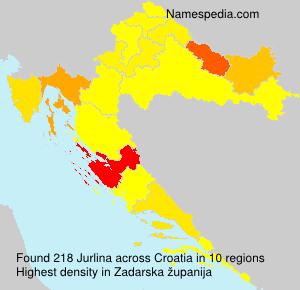 Familiennamen Jurlina - Croatia