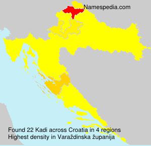 Familiennamen Kadi - Croatia