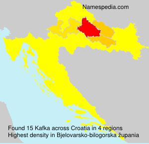 Surname Kafka in Croatia