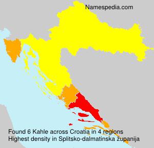Familiennamen Kahle - Croatia