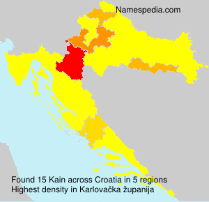 Surname Kain in Croatia