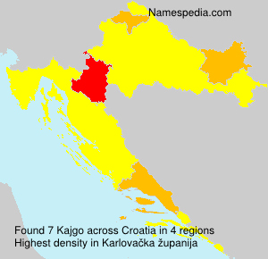 Familiennamen Kajgo - Croatia