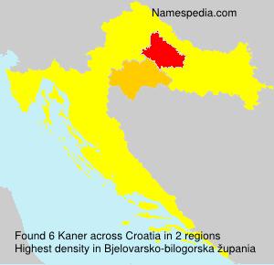 Surname Kaner in Croatia