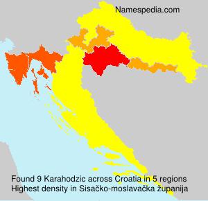 Familiennamen Karahodzic - Croatia