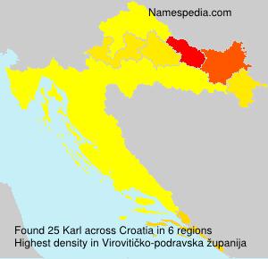 Surname Karl in Croatia