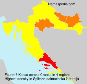 Familiennamen Kassa - Croatia