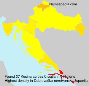 Surname Kesina in Croatia