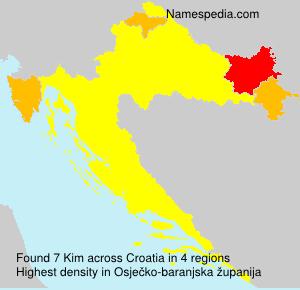 Familiennamen Kim - Croatia